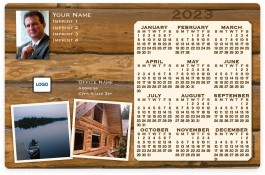 Log Cabin with 2 Pictures Full Magnet Calendars