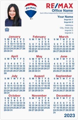 RE/MAX White with Photo Calendars