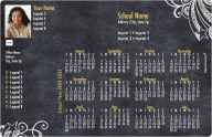 Chalkboard Doodles School Sponsored Calendar Magnets