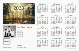 Lake Daybreak Full Magnet Calendars