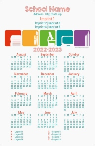 Subjects Covered School Calendar Magnets