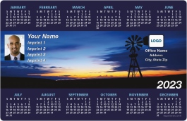 Windmill at Sunset Full Magnet Calendars