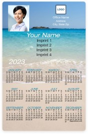 Beach Background Full Magnet Calendars