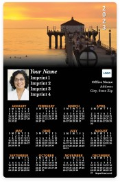 Pier at Sunset Full Magnet Calendars
