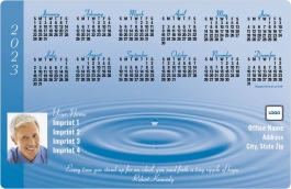 Water Drop with Quotation Full Magnet Calendars