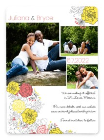 Botanical Cascade Save the Date Magnets