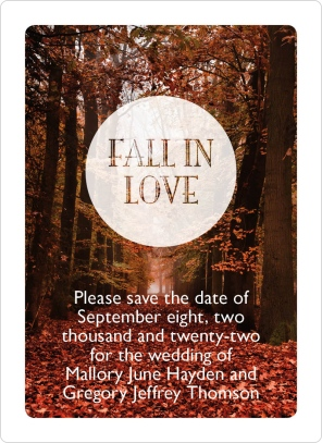 Fall in Love Save the Date Magnets