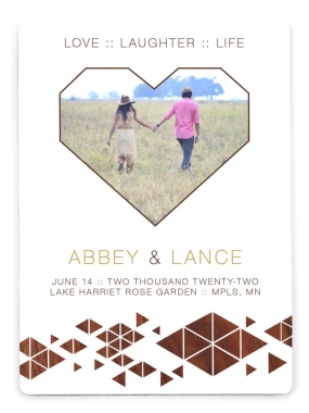 Geometry of Love Save the Date Magnets