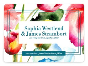 Floral Watercolor Save the Date Magnets