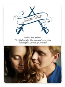 USMC Sabers of Love Save the Date Magnets