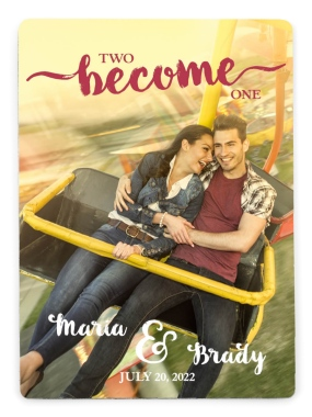 Two Become One Save the Date Magnets
