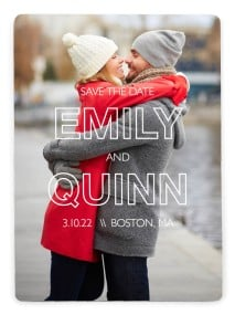 Simple Statement Save the Date Magnets
