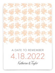 Elegant Floral Save the Date Magnets