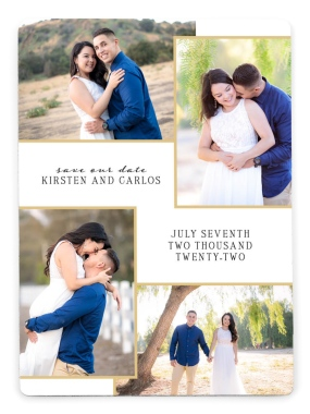 Love Squared Save the Date Magnets