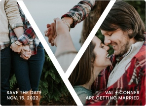 Criss Cross Crush Save the Date Magnets