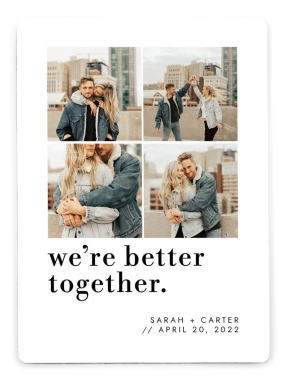 Better Together Save the Date Magnets