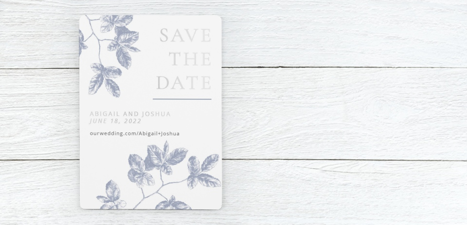Save the Date Magnet Front