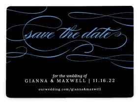 Fabulous Flourish Save the Date Magnets