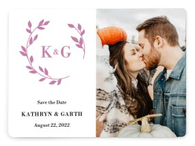 Charming Monogram Save the Date Magnets