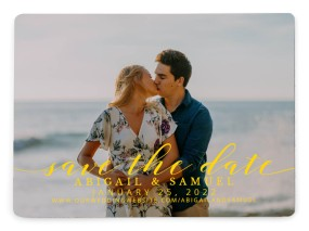 Timeless Eloquence Save the Date Magnets