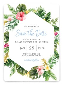 Perfect Paradise Save the Date Magnets