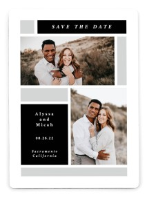 Framed Boxes Save the Date Magnets