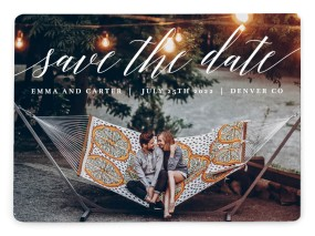 Twinkling Lights Save the Date Magnets