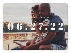 Bold Date Save the Date Magnets
