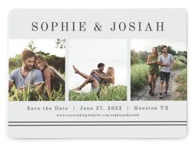 Fun Photostrip Save the Date Magnets