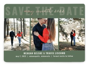 Bold Trio Save the Date Magnets