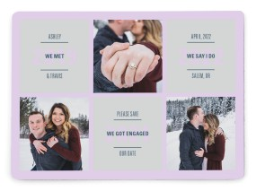 Sweet Snapshots Save the Date Magnets
