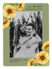 Sunflower Bliss Save the Date Magnets