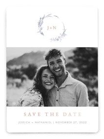 Dainty Wreath Save the Date Magnets
