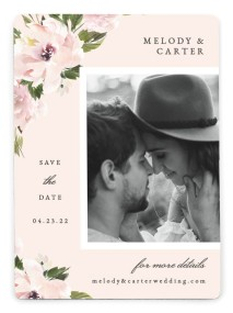 Sweet Floral Save the Date Magnets