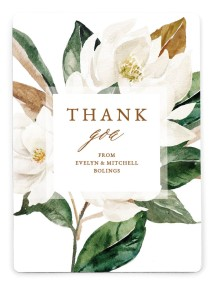Soft Magnolia Thank You Magnets