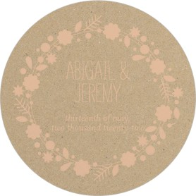 Rustic Wreath Wedding Coasters