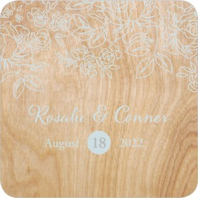 Rustic Woodgrain Wedding Coasters
