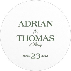 Formal Statement Wedding Coasters