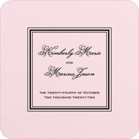 Foremost Formal Wedding Coasters