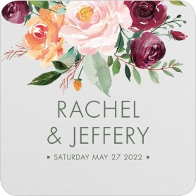 Country Florals Wedding Coasters