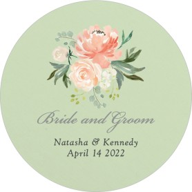 Luxe Floral Wedding Coasters