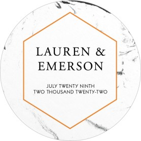 Elegant Marble Wedding Coasters