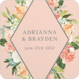 Diamond Garden Wedding Coasters
