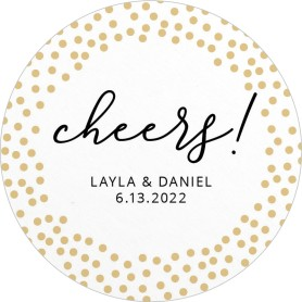 Dotted Cheers! Wedding Coasters