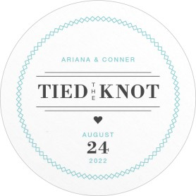 Tied the Knot Wedding Coasters