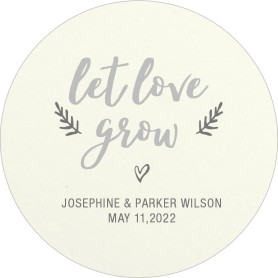 Let Love Grow Wedding Coasters