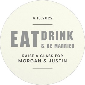 Eat, Drink, Married Wedding Coasters
