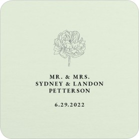 Sophisticate Sketch Wedding Coasters