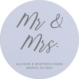 Simply Mr. & Mrs. Wedding Coasters