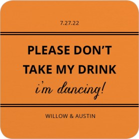 Raise Your Glass Wedding Coasters